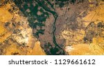 high resolution satellite image ... | Shutterstock . vector #1129661612