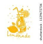 lemonade refreshing sweet sour... | Shutterstock .eps vector #1129672736
