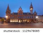 former building of post office  ... | Shutterstock . vector #1129678085