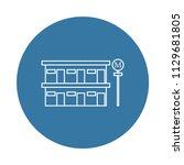 roadside motel icon. element of ... | Shutterstock .eps vector #1129681805