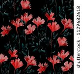watercolor seamless pattern... | Shutterstock . vector #1129682618