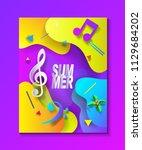 2018 summer music dance... | Shutterstock .eps vector #1129684202