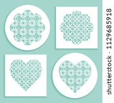 templates for laser cutting ...   Shutterstock .eps vector #1129685918
