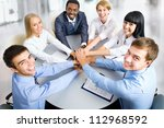 view from above of business... | Shutterstock . vector #112968592