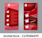 flyer template. vectical banner ... | Shutterstock .eps vector #1129686695