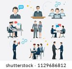 office concept business people... | Shutterstock .eps vector #1129686812