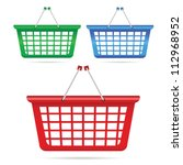 shopping basket vector... | Shutterstock .eps vector #112968952