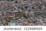 favela   urban social contrast   Shutterstock . vector #1129689635
