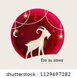 eid al adha mubarak the... | Shutterstock .eps vector #1129697282