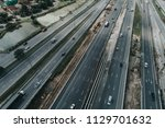 aerial view of highway in... | Shutterstock . vector #1129701632