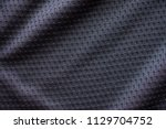 black fabric sport clothing... | Shutterstock . vector #1129704752