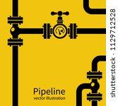 pipeline background black... | Shutterstock .eps vector #1129712528