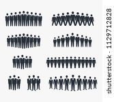 crowd of people icon. symbol... | Shutterstock .eps vector #1129712828
