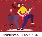 concert of musical band with... | Shutterstock .eps vector #1129714682