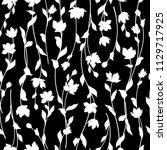 flower illustration pattern ...   Shutterstock .eps vector #1129717925