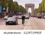 paris  france   23 june 2018 ... | Shutterstock . vector #1129719905