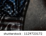 usa flag vintage background | Shutterstock . vector #1129723172