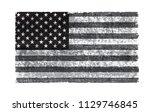 grunge american flag.vector... | Shutterstock .eps vector #1129746845