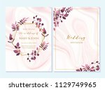 wedding invitation  thank you... | Shutterstock .eps vector #1129749965