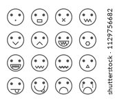 smile icon vectror | Shutterstock .eps vector #1129756682