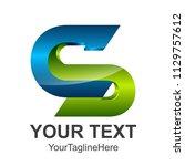 letter s 3d logo vector... | Shutterstock .eps vector #1129757612