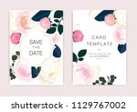 wedding invitation  floral... | Shutterstock .eps vector #1129767002