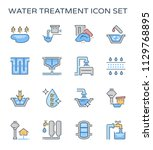 water treatment system and... | Shutterstock .eps vector #1129768895