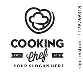 cooking and love logo design... | Shutterstock .eps vector #1129769318
