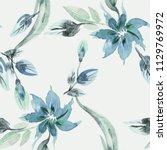 floral seamless pattern.... | Shutterstock . vector #1129769972
