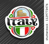vector logo for italy country ... | Shutterstock .eps vector #1129773476
