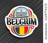 vector logo for belgium country ... | Shutterstock .eps vector #1129774172