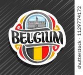 vector logo for belgium country ...   Shutterstock .eps vector #1129774172