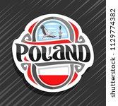 vector logo for poland country  ...   Shutterstock .eps vector #1129774382