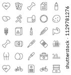 thin line vector icon set  ... | Shutterstock .eps vector #1129781276