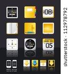 apps icon set vector tablet  ... | Shutterstock .eps vector #112978792