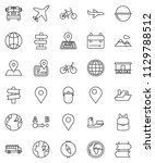 thin line vector icon set  ... | Shutterstock .eps vector #1129788512
