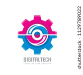 digital tech   vector business... | Shutterstock .eps vector #1129789022