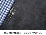 table setting with silverware... | Shutterstock . vector #1129790402