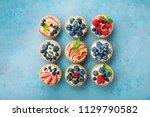 set of different tartlets or... | Shutterstock . vector #1129790582