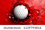 golf ball breaking with great... | Shutterstock . vector #1129793816
