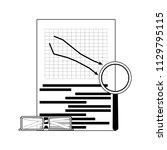 market downward line. vector...   Shutterstock .eps vector #1129795115