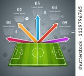 football  soccer field. sport... | Shutterstock .eps vector #1129796765