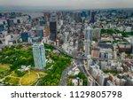 tokyo   may 2016  city aerial... | Shutterstock . vector #1129805798