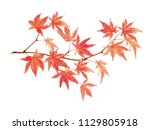 Maple Leaves Watercolor...