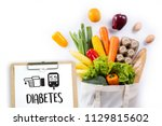a diabetes test  health medical ... | Shutterstock . vector #1129815602