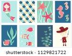 set of banner  flyer  placard... | Shutterstock .eps vector #1129821722