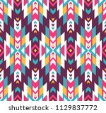 tribal seamless colorful... | Shutterstock .eps vector #1129837772