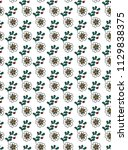 simple floral pattern vector | Shutterstock .eps vector #1129838375