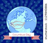 columbus day. concept of a... | Shutterstock .eps vector #1129840886