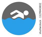 swimmer icon. vector.   Shutterstock .eps vector #1129843832
